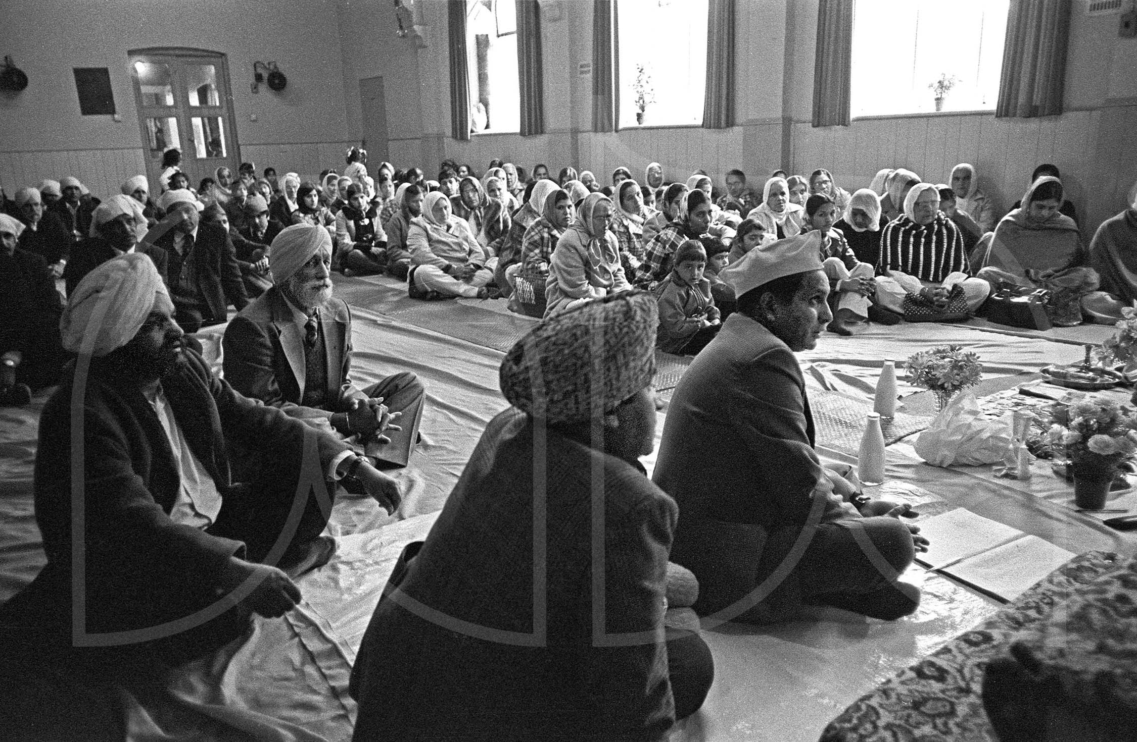 Service in Sikh temple Wolverhampton  (1976)