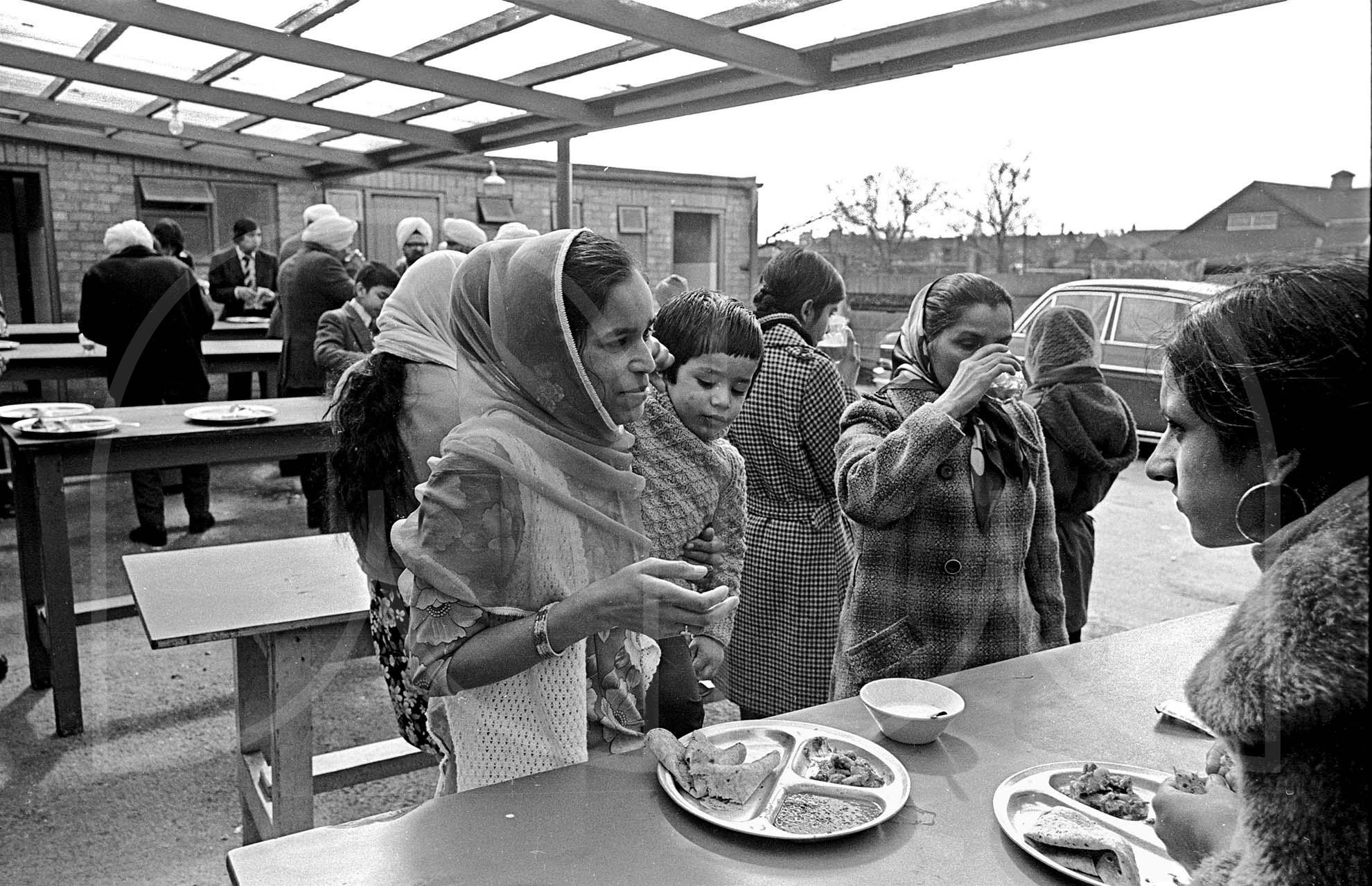 At the Sikh Langar Wolverhampton  (1976)