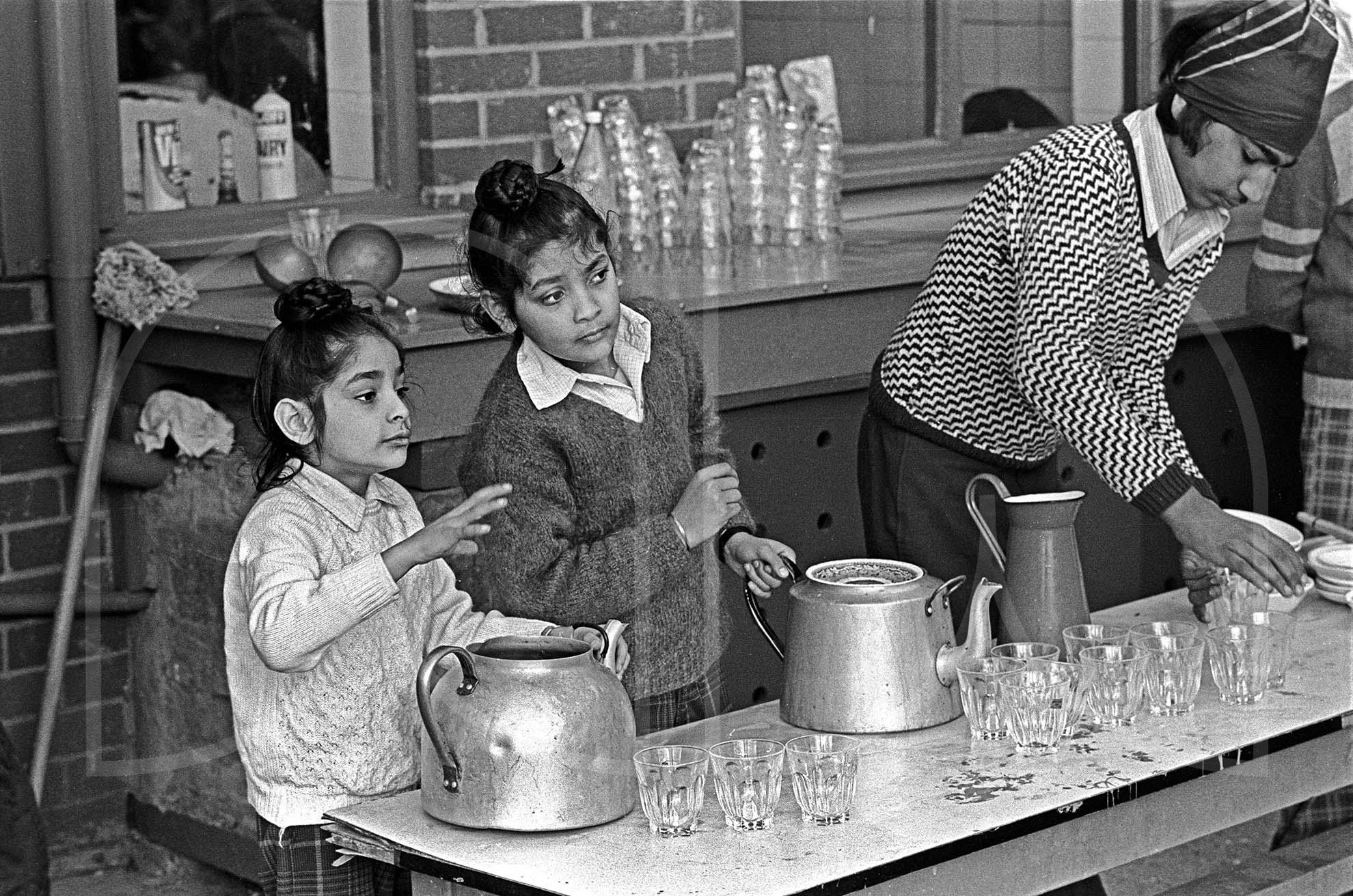 Serving at a Sikh Langar Wolverhampton  (1976)
