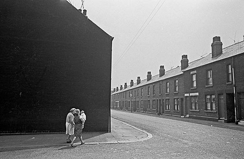 Three generations greet the street Sheffield  (1969)