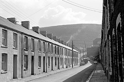 Terrace of houses in a mining village , South Wales  (1969)