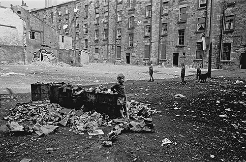 Tenement courtyard, Maryhill, Glasgow  (1971)