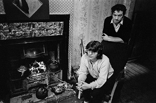 Married couple in their Maryhill tenement flat, Glasgow  (1971)