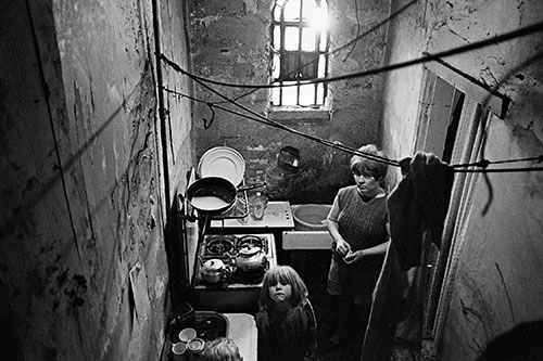 Mother and daughter in the kitchen of their Birmingham home,  (1971)