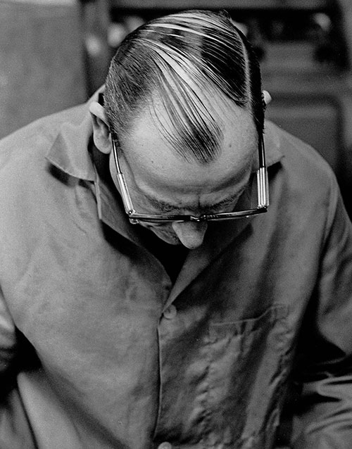 A hairstyle in the mould makers workshop, Lee Howl Tipton  (1978)