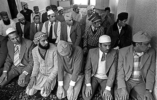 Prayer at the mosque  Wolverhampton 1976737-19