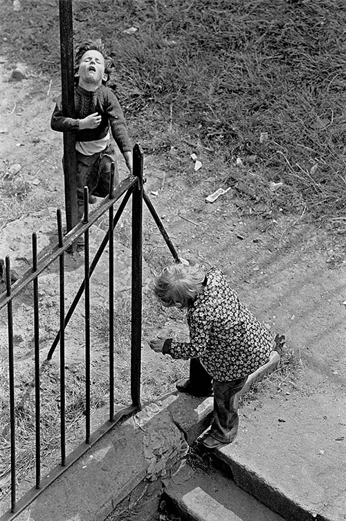 Children playing in a Maryhill tenement courtyard, Glasgow  (1971)