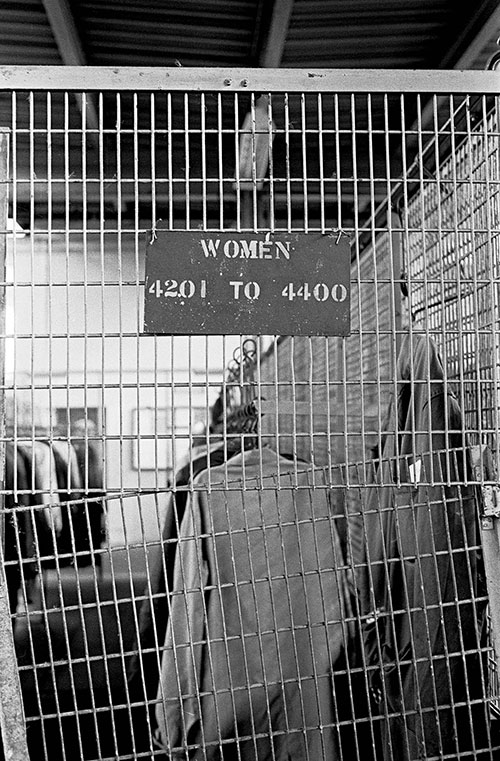 Sign by lockers, Josiah Parkes lock factory, Willenhall  (1976)