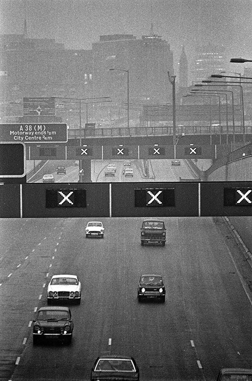 Aston Expressway and Birmingham city centre  (1973)