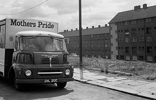 Bread delivery van Newcastle  (1970)
