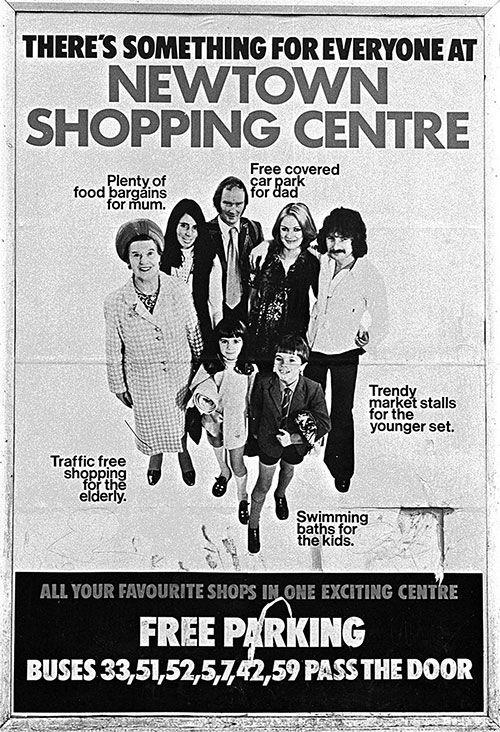 Poster advertising a new shopping centre Birmingham  (1975)
