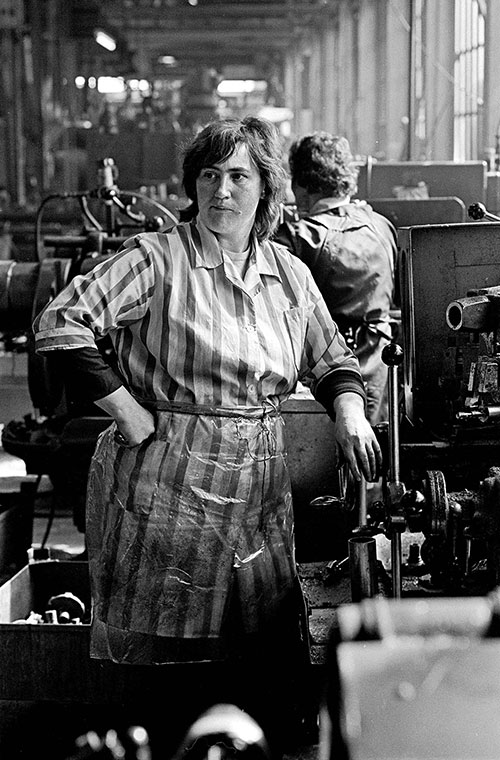 Lathe operative, Lee Howl pump factory, Tipton  (1978)