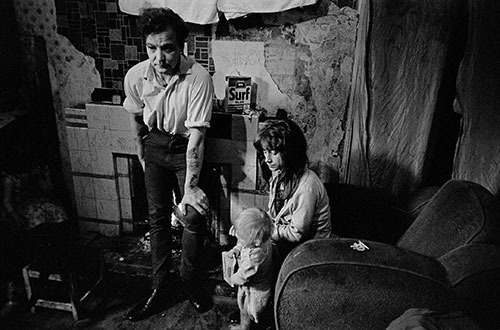Family living in a slum property Newcastle  (1971)