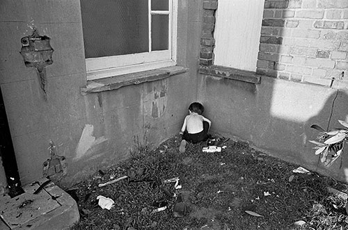 Child in the garden of his N London hostel,  (1969)