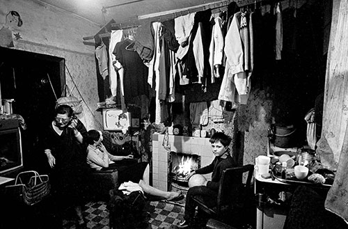 The front room of a Hockley back to back house, Birmingham  (1968)