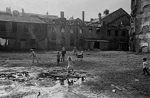 children playing in a patch of Gorbals wasteland,  (1970)