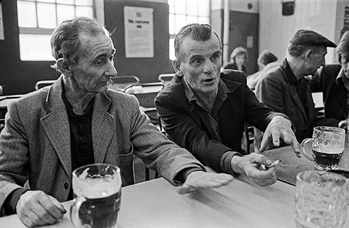 Lunchtime pints in the canteen , British Steel Bilston  (1976)