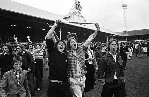Football supporters, White Hart Lane Tottenham  (1975)