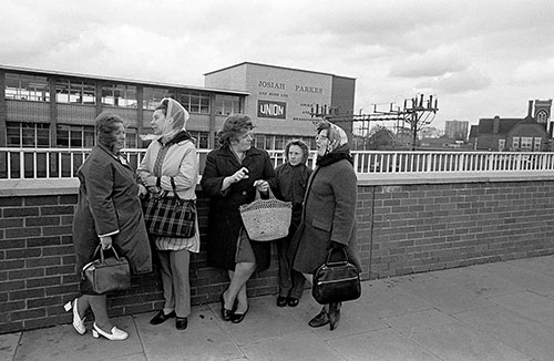 Waiting for the bus at the end of the shift, Willenhall  (1976)