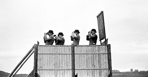 Stewards at a point to point meeting Herefordshire  (1967)