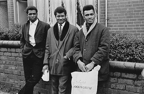 Three young men Sparkbrook 1966, Birmingham