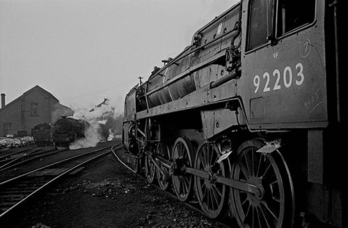 The last days of steam at the Oxley Engine sheds , Wolverhampton  (1967)