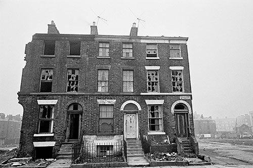 The only house left occupied, Falkner St Liverpool  (1969)