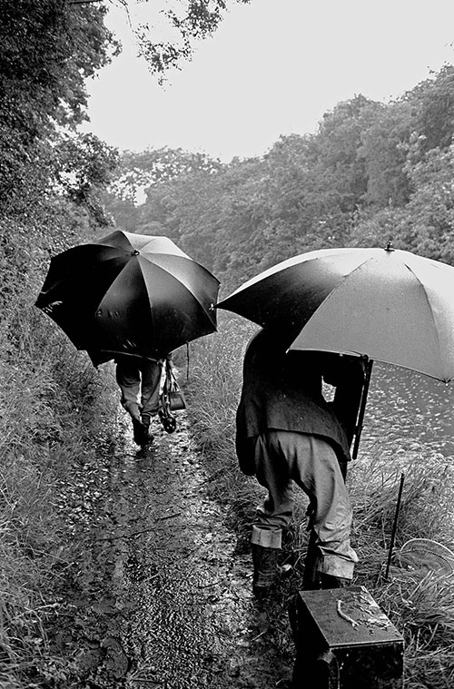 Fishing competion  canal bank Worcestershire  (1967)