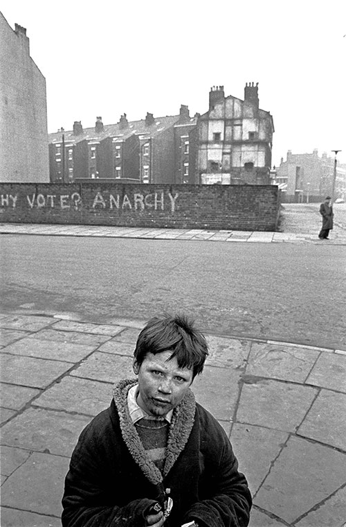 Boy and graffiti, Liverpool  (1969)