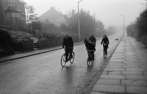 Riding home from church, Bromsgrove Worcs  (1967)