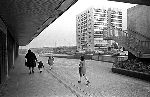Shopping precinct Redditch New Town,  (1975)