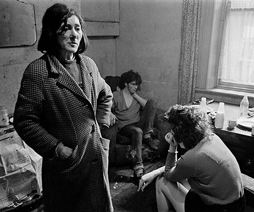Mrs Moran living in a slum house , West End, Newcastle  (1971)
