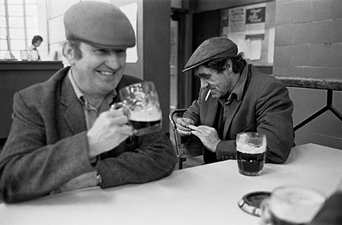 Lunchtime pints in the canteen, British Steel Bilston  (1976)