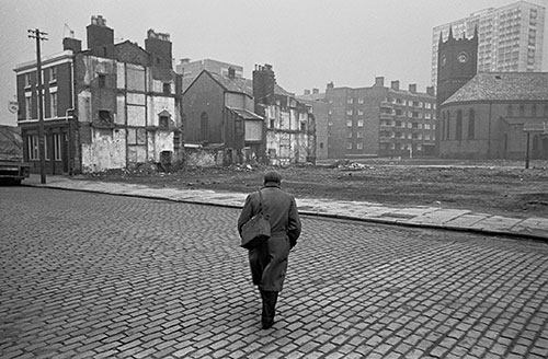 Returning home from work, Liverpool  (1969)