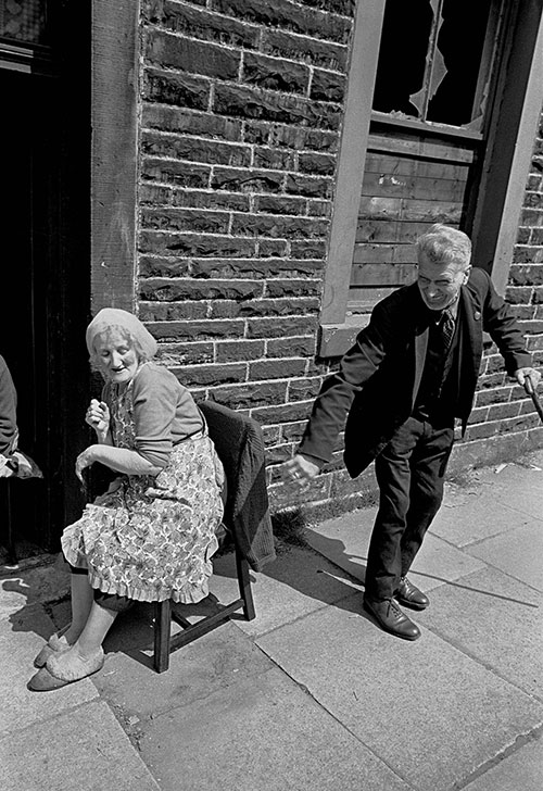 Sitting out on a Burnley street,  (1969)