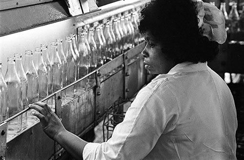 Bottle inspection dairy Wolverhampton  (1977)