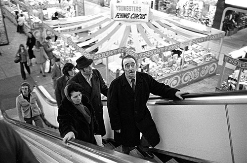 Escalator in Bull Ring shopping centre, Birmingham  (1975)