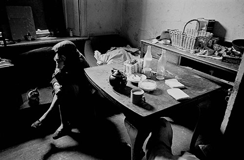 Housewife living in Newcastle slum property,  (1971)