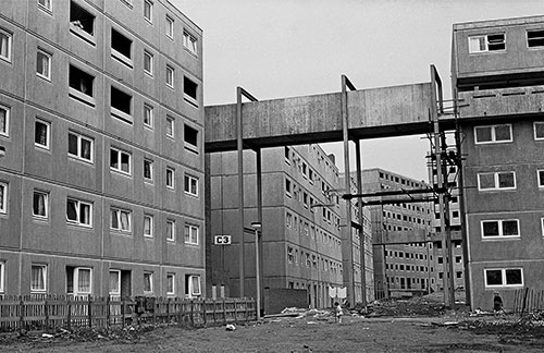 New development Killingworth New Town Northhumberland  (1975)
