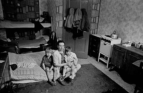 Mother and her family living in a one room flat,  (1971)