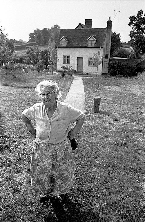 Senior citizen and her country cottage Wichenford Worcs  (1969)