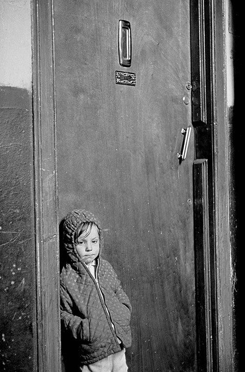 Waiting for her parent to come home,Edinburgh  (1972)