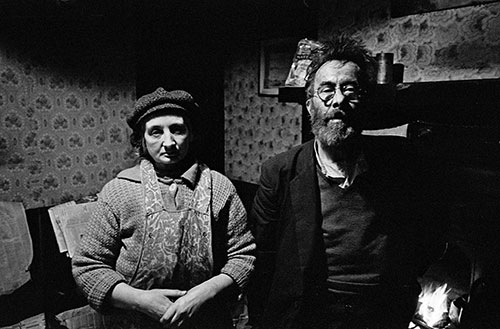 Elderly couple living in slum property, Hockley Birmingham  (1969)