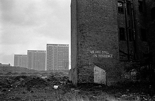 Abandoned chapel faces new towerblocks,Hockley, Birmingham  (1967)