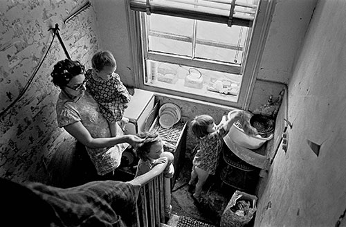 Kitchen on the staircase, Brixton London  (1971)