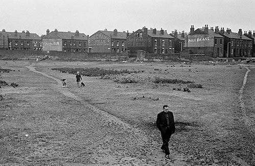 Crossing wasteland, Leeds  (1970)