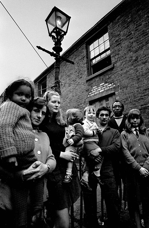 a group of neighbours, Ladywood Birmingham  (1968)