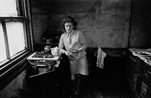 Housewife in the kitchen of her Newcastle home  (1972)