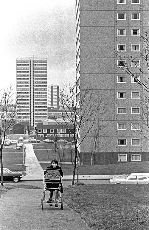 Housewife and pathway Birmingham  (1975)
