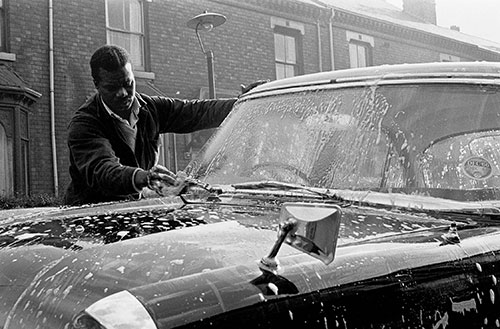 Washing a new car, Saltley, Birmingham  (1966)